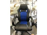 Black blue game office chair for sale