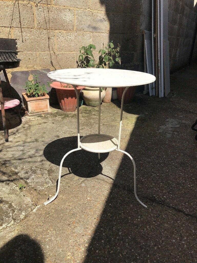 free white metal ikea small side table living room or