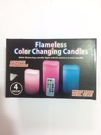 Flamesless Color Changing Candles-Remote Control