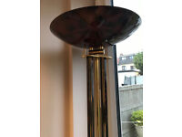 Large Floor Stand LAMP - Brown and Gold