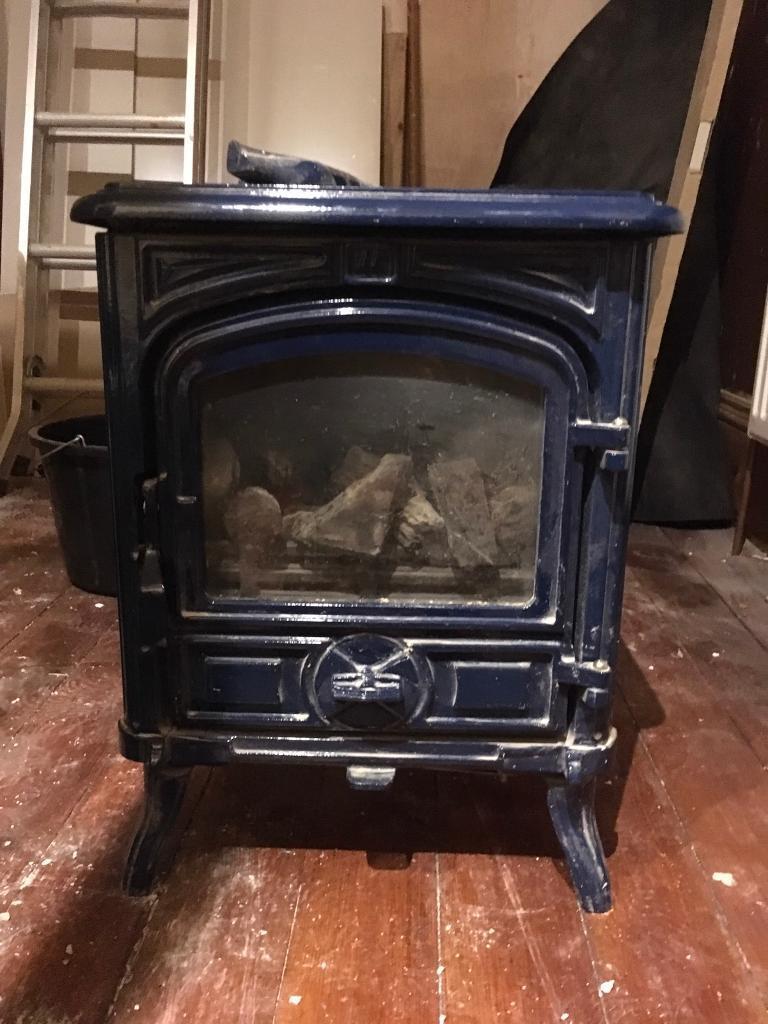 Franco Belge Belfort Cast Iron Coal Effect Gas Firestove In