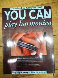 Harmonica music book with CD