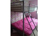 Single Bunk Bed with Double Futon