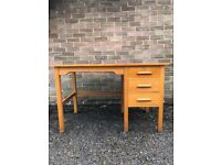 Mid century desk with drawers