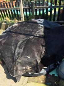 Cowhide rug large