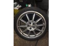 "Subaru Prodrive by OZ 18"" alloy wheels"