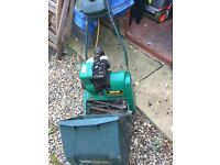 Qualcast PETROL Mower, GC but small petrol leak, been in shed for 2 years, has been serviced
