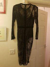 Missguided lace bodysuit dress