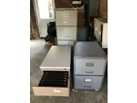 Trio of Filing Cabinets