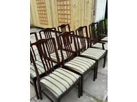 Antique Dining Chairs Set of 6 & 2 Carvers