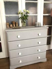 """Pine """"Grey Paris"""" Chest Free Delivery Ldn shabby chic"""