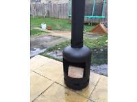 Gas bottle chiminea wood burner