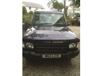 SPARES OR REPAIRS 2000 LAND ROVER DISCOVERY td5 2.5 DIESEL AUTOMATIC - MOTD