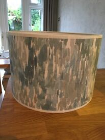 Dunelm blue grey and white lampshade