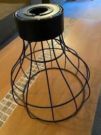Pendant metal light fittings (x5)