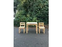 Child/Toddler Used Natural wood Desk and Chair set