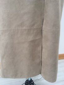 Beige suede pencil skirt size 12