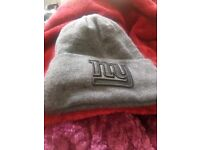 Ny beanie hat gray excellent condition