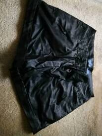 Never worn Leather feel shorts, size 8
