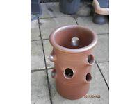 Strawberry Planter, Glazed Terracotta x 2