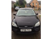 2006 Black Ford Focus 1.6 Low mileage 55,000 miles in good condition