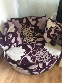 Cuddle swivel chair. Comfortable and sturdy. Pick up only Glengormley centre