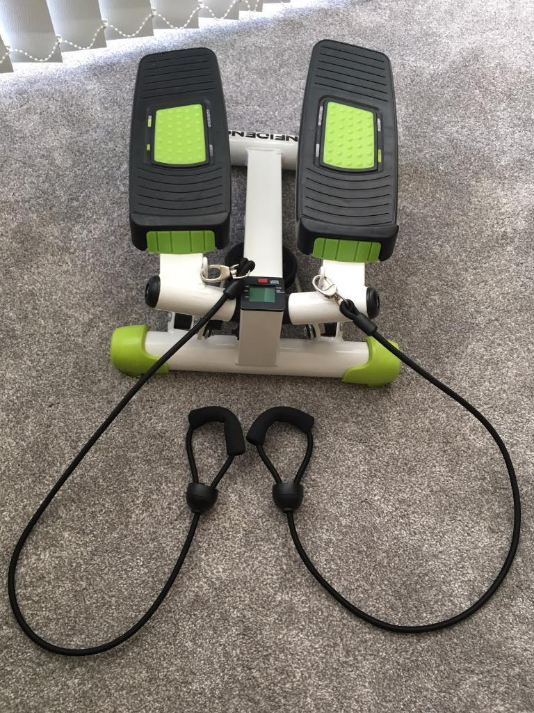 Fitness Stepperin Exeter, DevonGumtree - Stepper which has a display screen and counts calories and time. Also has attached stretch workout bands for arms. Excellent condition. Collection from Hill Barton Vale