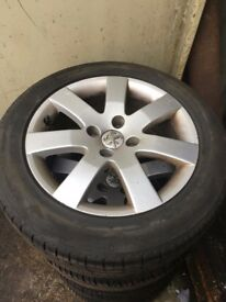 16 INCH PEUGEOT 308 ALLOYS