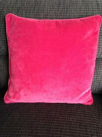 4 Next Red Velour Cushions