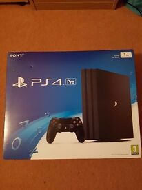 Brand New Sealed In Box Playstation 4 Pro (PS4 Pro) 1TB Black Gaming Console with 1 Year Warranty