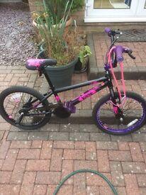 Girls and Boys BMX cycles.