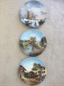 Plates with German scenes.
