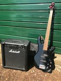 Ibanez GSR200 4 string bass guitar and Marshall B52 Mk2 bass amplifier
