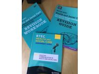 BTEC health and social care revision books