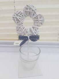 x12 White flower tealight holders