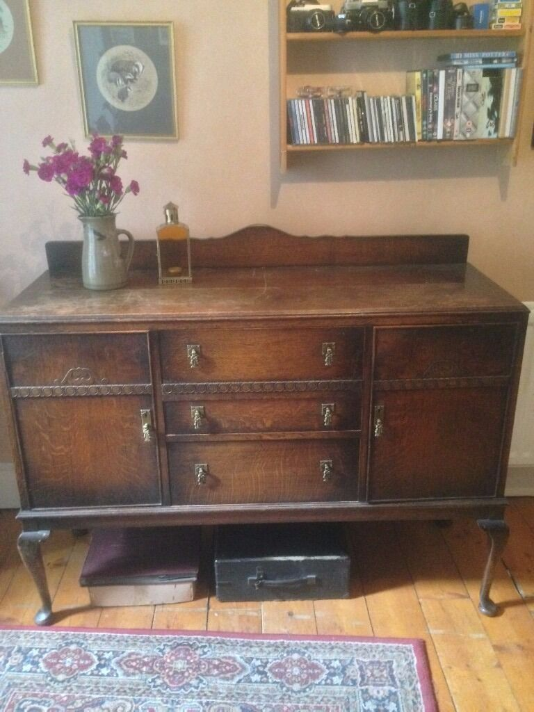 Living Room Furniture Edinburgh sideboard, antique wooden chest of drawers. huge vintage living