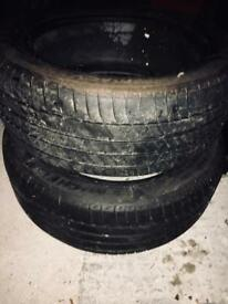 2 Michelin tires R17 225/50, 5mm