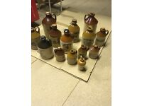 REDUCED !!! SMALL COLLECTION OF CIDER SCRUMPY EARTHERNWARE JUGS