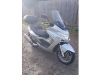 57 PLATE KYMCO XCITING 500 cc SCOOTER VERY LOW MILEAGE
