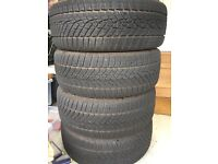 "Set of 4 17"" BMW winter tyres and wheels. Quality Goodyear Ultragrip 225/45"