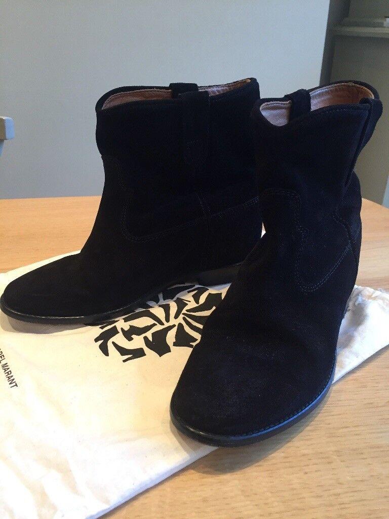 69c3cf67673 Black suede Isabel Marant CRISI boots