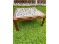 Vintage Square Coffee Table with Tiled Top