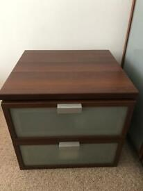 Bedside table with storage