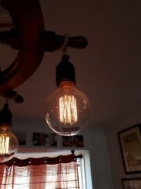 6No. Small Globe Squirrel Cage Filament Vintage Light Bulb E27 dimmable
