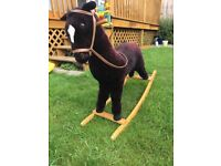Soft toy rocking horse