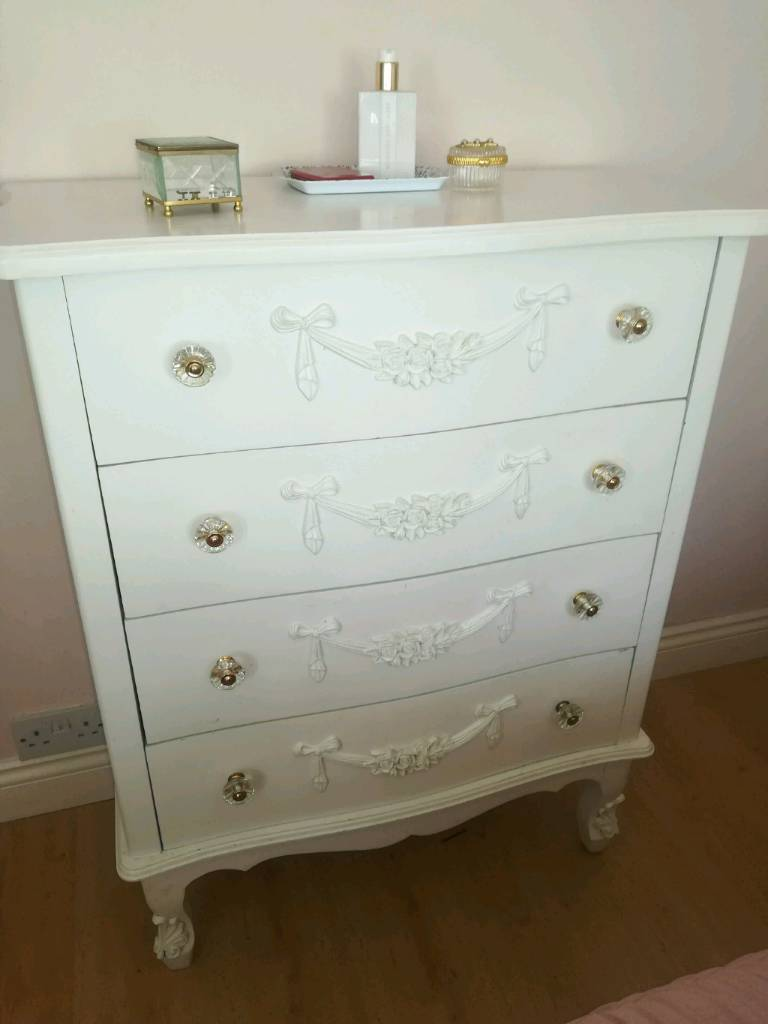 Dunelm Large Chest Of Bedroom Drawers White French In Poole Dorset Gumtree