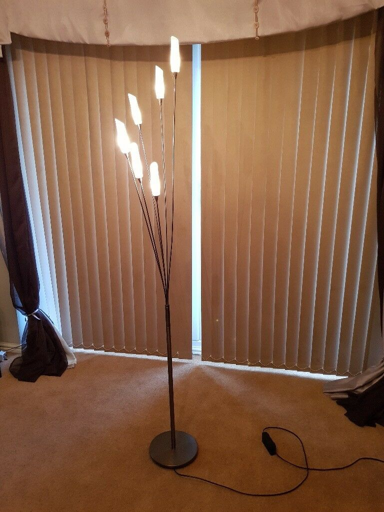 Hyatt 6 Light Floor Lamp Satin Nickel In Hartlepool County Durham Gumtree