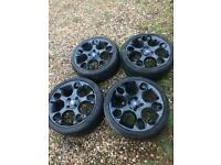 "GENUINE 17"" FORD FIESTA MK7 8 ZETEC S SNOWFLAKE WHEELS AND TYRES Black"