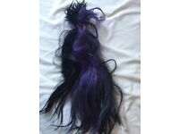 "18"" black and purple microring hair extensions"