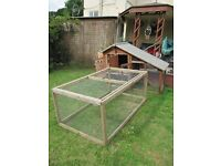 Large CHICKEN COOP with Extra Secure Run . 10 Months Old .